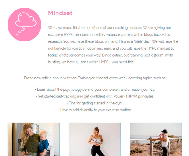 HYPE by powerfit - MINDSET