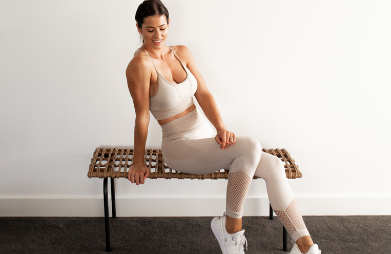 powerfit home lower beginner workout feature image